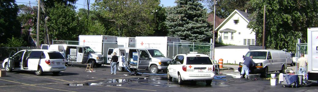 Red Cross Vehicle Cleaning