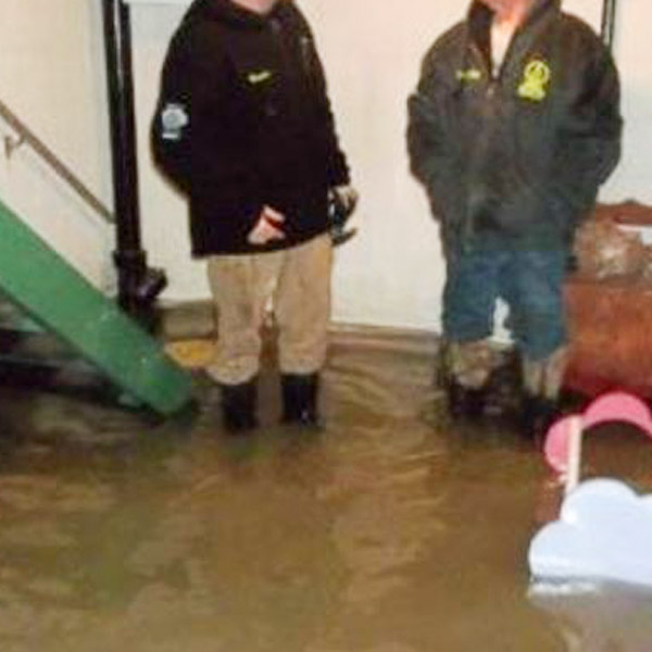Flooded Basement. Accurate Carpet Cleaning Services Flood clean up. Water Damage clean up.